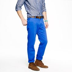 Bright Blue Pants Men - Fat Pants