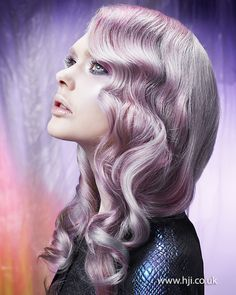 2014 lilac steel smooth waves - Hairstyle Gallery Lilac #hair....awwwwwww.....breath-taking..♥  #hairstyle #waves #trends #haircolor