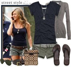 """Cute cool summer outfit, like the """"infantry/safari"""" feel to it."""