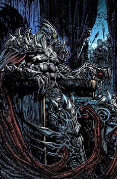 Spawn The Dark Ages - The Black Knight Comic Book Characters, Comic Character, Comic Books Art, Comic Art, Spawn Comics, Anime Comics, Ghost Rider Marvel, Dark Artwork, Western Comics