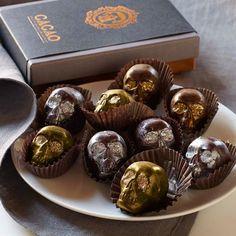 Chocolate Caramel Skulls
