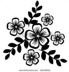Flower Silhouette Stock Photos, Images, & Pictures | Shutterstock