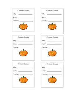 1000 images about halloween on pinterest pumpkin for Voting slips template