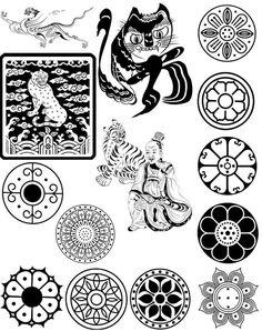 전통문양그림자료모음 : 네이버 블로그 Chinese Patterns, Ethnic Patterns, Textures Patterns, Motif Design, Design Elements, Embroidery Applique, Embroidery Patterns, Esoteric Tattoo, Ancient Tattoo