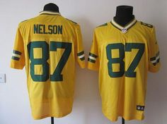 "$23.88 at ""MaryJersey""(maryjerseyelway@gmail.com) Nike Packers #87 Jordy Nelson Yellow Alternate Men's Embroidered NFL Elite Jersey"