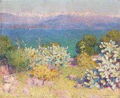 In the morning, Alpes Maritimes from Antibes - John Peter Russell Matisse, Monet, Essentials Magazine, John Peter, John Russell, Australian Painting, Art Database, Paris, Landscape Art