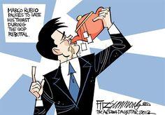Marco Rubio... drinking that TEAparty TEA....