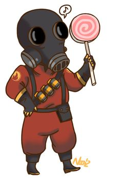 The Pyro from Team Fortress 2 Magnet