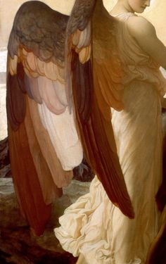 """Angel Wings - Frederic Leighton, """"Elijah in the Wilderness"""" (detail) Beautiful. Angels Among Us, Angels And Demons, Frederick Leighton, Renaissance Kunst, I Believe In Angels, Ange Demon, Angels In Heaven, Guardian Angels, Classical Art"""