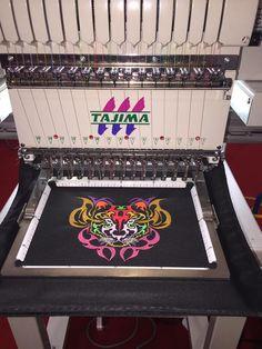 Monohead #Tajima technology at #Malaysia Gifts Expo 2016 #embroidery #sewingproject
