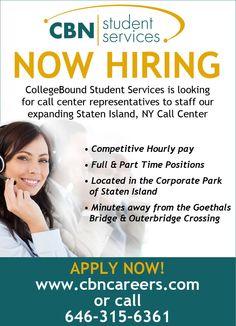 CBN - NOW Hiring! #collegebound