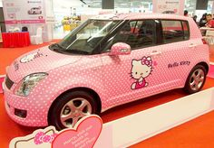 Pink Hello Kitty / my dream car! Sanrio Hello Kitty, Hello Kitty Car, Hello Kitty Items, Here Kitty Kitty, Pretty In Pink, Pretty Cats, Perfect Pink, My Dream Car, Beauty