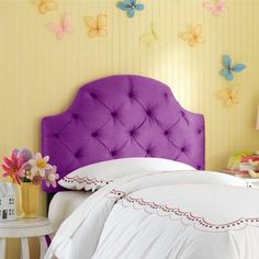 Skyline Juliette Tufted Headboard - Skyline Furniture, Hot Purple