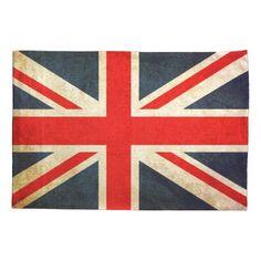 Vintage Union Jack British Flag Pillow Case
