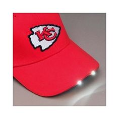 NFL Kansas City Chiefs Dual LED Headlight Visor Adjustable Hat Football KC  Cap  KansasCityChiefs 7143da428963