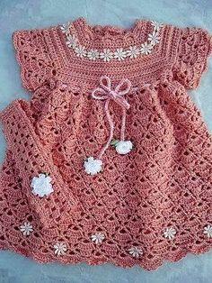 patrón de vestido de crochet de hilo para niños - ☀ hilados y ganchillo