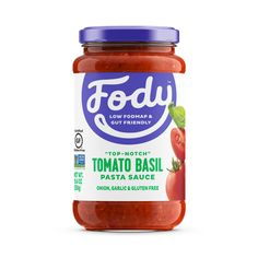 <b><big> Low FODMAP <br> Tomato & Basil Sauce </big></b><br><small> Onion & Garlic Free</small> Pasta Sauce No Onion, Tomato Basil Pasta Sauce, Pasta Sauces, Fodmap Diet, Low Fodmap, Fodmap Foods, Chicken Soup Base, Hearty Vegetable Soup, Fodmap Recipes