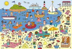 Naar het strand by Anne Van Der Pol Spanish Practice, Vocabulary Practice, Teaching Spanish, Orla Infantil, Communication Orale, Picture Composition, Hidden Pictures, English Lessons, Speech And Language