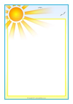 Weather-Themed Page Borders – Portrait - SparkleBox borders Boarder Designs, Page Borders Design, Borders For Paper, Borders And Frames, Page Boarders, Picture Borders, Scrapbook Patterns, Page Decoration, Image Clipart