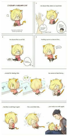 Cute lil Yurio and Otabek  I ship it so hard. And we all know that pig plushie is Yuuri ❤ Credit to the amazing artist!