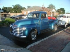 48 Chevy. Love the classic pick-ups!