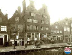 Amsterdam: De Elandsgracht in 1884 voordat deze gracht in 1891 werd gedempt