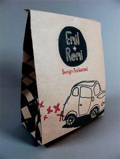 emil + remi burger restaurant packaging