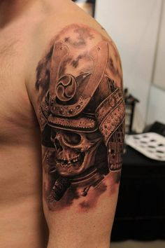 samurai skull   InkFreakz.com