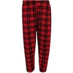 WearAll Plus Size Tartan Elastic Waist Trousers ($24) ❤ liked on Polyvore featuring plus size women's fashion, plus size clothing, plus size pants, plus size capris, plus size, red, plus size trousers, womens plus pants, red pants and red trousers