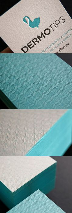 Elegant Deeply Textured Letterpress Business Card Design