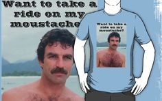 """""""Selleck Moustache Ride"""" T-Shirts & Hoodies by Gosy   Redbubble"""