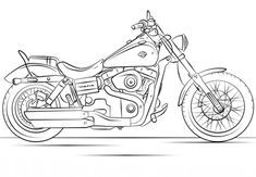 Great Image of Motorcycle Coloring Pages Motorcycle Coloring Pages Harley Davidson Motorcycle Coloring Page Free Printable Coloring Pages Motos Harley Davidson, Harley Davidson Bike Images, Harley Davidson Decals, Harley Davidson Kunst, Harley Davidson Tattoos, Free Printable Coloring Pages, Free Coloring Pages, Coloring Books, Coloring Sheets