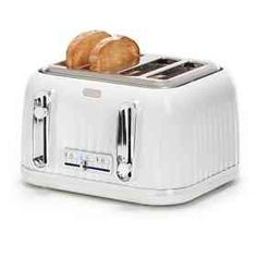 Toaster - White, 4 Slice