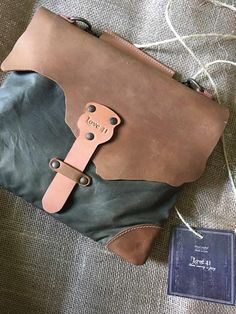 Rachel just got her uniquely made Rawhide Crossbody bag. She said she nearly cried when opening..... :). Don't cry Rachel! Enjoy it and be ready for people to ask you about it! #ethicalfashion #purchasewithapurpose #love41 #leather #waxedcanvas