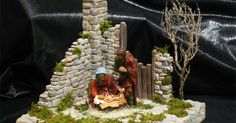 DIY mini garder for your mini Nativity Christmas Villages, Christmas Nativity, Christmas Humor, Merry Christmas, Xmas, Christmas Ornaments, Ceramic Houses, Clay Miniatures, Cold Porcelain