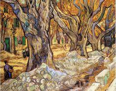 "vincentvangogh-art: ""  Large Plane Trees 1889 Vincent van Gogh """