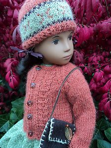 Mouse over image to zoom  Have one to sell? Sell it yourself CINNAMON SPICE; PURE ALPACA CARDIGAN & HAT WITH PURSE for SASHA DOLLS. EBAY-10/15/2013 quin4gold