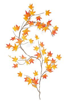 Decorating with maple leaves. This is the perfect garland for fall.