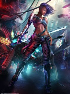 Cyberpunk - Bailey Bright Eyes Full Art by Eddy-Shinjuku on DeviantArt Arte Cyberpunk, Cyberpunk 2077, Cyberpunk Girl, Cyberpunk Aesthetic, Cyberpunk Fashion, Fantasy Warrior, Fantasy Girl, John Rick, Science Fiction