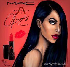 Hayden Williams Fashion Illustrations: Aaliyah for MAC by Hayden Williams