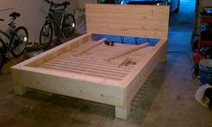 DIY Platform Bed With Floating Nightstands: 9 Steps (with Pictures) Furniture Projects, Furniture Plans, Kids Furniture, Home Projects, Carpentry Projects, Woodworking Projects Plans, Sunken Bed, Homemade Beds, Homemade Bed Frames