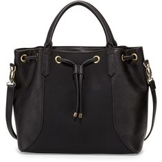Neiman Marcus Jessa Faux-Leather Tote Bag (116 AUD) ❤ liked on Polyvore