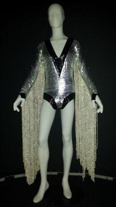 Kansai Yamamoto's costume for David Bowie (1973) from the Aladdin Sane Tour. | PHOTO BY MIRIAM DI NUNZIO/SUN-TIMES