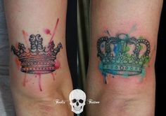 b402438f5 15 Ideas For Adorable Matching Couple Tattoos. Queen TattooMatching ...
