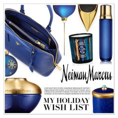 """The Holiday Wish List With Neiman Marcus: Contest Entry"" by ewa-naukowicz-wojcik ❤ liked on Polyvore featuring Guerlain, L'Objet, Diptyque, Prada, Neiman Marcus, Giuseppe Zanotti and NMgifts"
