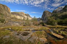 hetch hetchy: Yosemite's other great valley, flooded to create Hetch Hetchy Reservoir in the early 1900s. But surrounding mountains remain gorgeous and uncrowded. A 5-mile round-trip hike leads to Wapama Falls.