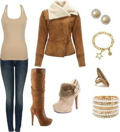 """Brown"" by missb19 ❤ liked on Polyvore"
