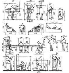 Стандартные размеры мебели с учетом эргономики