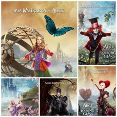 Take a gander at these gorgeous new poster images fromAlice Through the Looking Glass! ALICE THROUGH THE LOOKING GLASS opens in theaters everywhere on May
