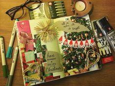 "Páči sa mi to: 40, komentáre: 6 – Dominika Imrichová (@ms_domca) na Instagrame: ""Christmas collage 🎄🎅🏼☃️🎁❤️ #christmas #christmastime #merrychristmas #collage  #journal #journaling…"" Merry Little Christmas, Christmas Time, Christmas Collage, Artist Brush, My Journal, Journaling, Ms, Gift Wrapping, How To Make"
